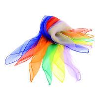 "6pcs Big Beginner Juggling Scarves Women Scarfs 27"" x 27""  Mixed Colors"