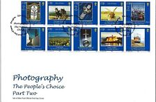 I O M 2002 PHOTOGRAPHY THE PEOPLE'S CHOICE PAIR OF FIRST DAY COVERS