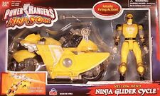 Power Rangers Ninja Storm Transforming Glider Cycle Yellow Wind Ranger (MISB)