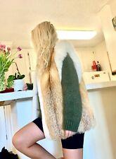 Fox fur vest medium genuine real  fur women fashion One size good condition!