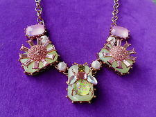 Betsey Johnson Authentic NWT Rose Gold-Tone Flower Frontal Necklace