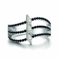 BENIAMINO Damen Ring 925er Sterling Silber Spinell Zirkonia 18 K verg Rhodiniert