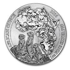 2016 Rwanda 1 oz Silver African Meerkat BU - SKU #93776