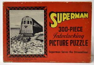 ACTION COMICS 13 SUPERMAN COVER PUZZLE 1940 SAALFIELD PUZZLE w ORIGINAL BOX RARE