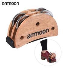 ammoon Elliptical Cajon Box Drum Companion Accessory Foot Jingle Tambourine H6C7