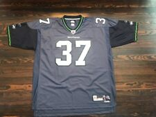SEATTLE SEAHAWKS Blue Home #37 SHAUN ALEXANDER JERSEY Football Shirt Size XXL