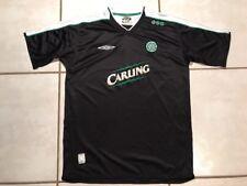 Rare UMBRO Celtic FC BLACK Soccer Jersey Men's Large