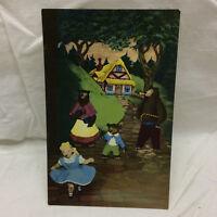 Vintage Postcard Goldie Locks and the Three Bears Not Used