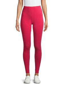 No Boundaries Juniors Soft Full Length Ankle Leggings MEDIUM (7-9) Solid Pink