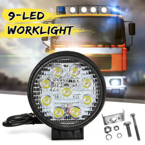4'' Round LED Work Light Bar Driving Spot Headlight Offroad Truck Tractor 4x4