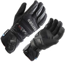 OXFORD PILOT LEATHER TEXTILE HIPORA WATERPROOF THERMAL MOTORCYCLE BIKE GLOVES