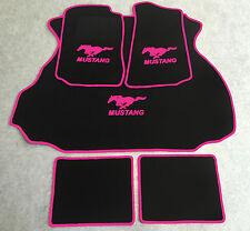 Autoteppich Fußmatten Kofferraum Set für Ford Mustang Coupe pink 1994-04 5tlg.