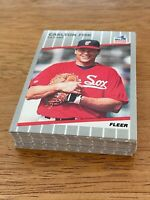 P) Lot of 40 1989 Fleer Baseball CARLTON FISK Cards #495 Chicago White Sox