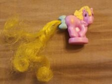 Vtg My Little Pony Petite Ponies Mirror Petite Pink Yellow Hair