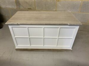 Painted Limed Oak Toy/ Blanket Box by Coach House Ltd