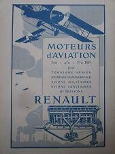 5/1923 PUB RENAULT MOTEUR AVIATION AVION AERO ENGINES ORIGINAL FRENCH AD