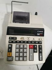 CANON MP120-DLE 12 DIGITS 2 COLOR  CALCOLATRICE scrivente rullino nastro WORKING