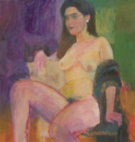 John Ivor Stewart PPPS (1936-2018) - Contemporary Oil, The Seated Nude Model