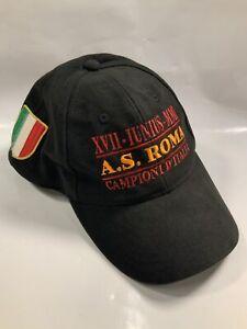 Vintage SnapBack Hat Soccer As Roma Italy Italia Champions Kappa