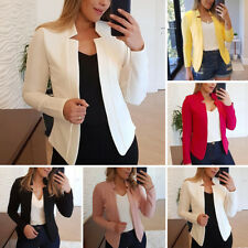 US Women Slim Blazer Casual OL Work Jacket Outwear Suit Coat Plus Size S-5XL