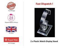 2x Bracelet / Watch Display Stand - Clear Acrylic  - 2 part assembly - 9cm high