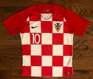 Luka Modric #10 Croatia HNS Nike 2018 Home Soccer Jersey Men's Medium
