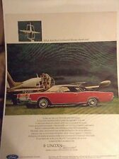 Original 1967 Lincoln Continental Magazine Ad - ... The Continental Life...