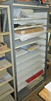 "11 shelf metal cabinet MONARCH Roller Shutter door w/keys (Grey) 37"" 18 1/2"" 74"""