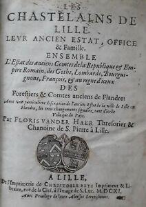 Vander Haer 1611 Chastelains de Lille EO histoire