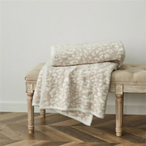 Soft Warm Throw Leopard Printed Flannel Blanket Sofa Bedroom Nap Cover Blankets