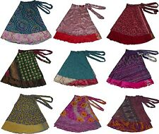 "Plus Size 5 Pcs Lot Of Women'S Mix Assorted Print Long Wrap Skirts 36"" XL"