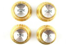 Gold Silver Reflector Electric Guitar Knobs For Gibson SG Style Electric Guitar