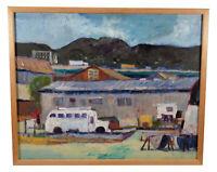 VINTAGE LUNDY SIEGRIEST OAKLAND CALIFORNIA ART MODERNIST LANDSCAPE OIL PAINTING
