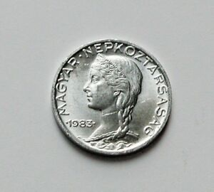 1983 BP HUNGARY Coin - 5 Filler - AU+ toned-lustre with scratch - Hungarian girl