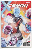 Iceman 1 Marvel 2017 NM Signed Sina Grace LGBT X-Men Magneto Mystique Juggernaut