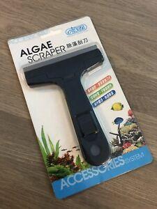 Aquarium Metal Blade Scraper - Glass Cleaner - Removes Tough Algae