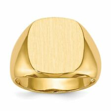 14K Yellow Gold Mens Signet Ring Jewelry Size 10