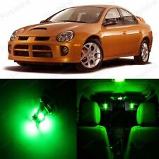 8 x Super Green LED Interior Light Package Kit For Dodge Neon 2000 - 2005