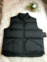 Consensus Mens Size L Black Sleeveless Zip Up Reversible Insulated Winter Vest