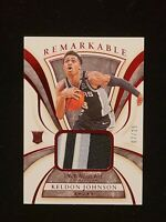 2019-20 Immaculate Keldon Johnson REMARKABLE RED 3 COLOR PATCH SSP RC #/25 SA