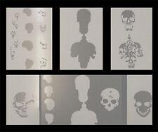 Airbrush Schablonen Set Schädel/Skull 1
