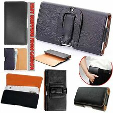 Leather Belt Clip Wallet Hip Book Case Pouch Holder Cover iPhone 5 5S SE