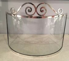 George Henckel & Co Antique Sterling Silver Curve Glass Cheese Display Preserver