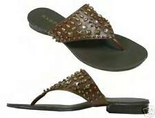 NIB Rampage BROWN Studded Bead Beaded Thong Sandal Sandals Flip Flop 8