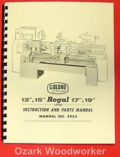 "LEBLOND REGAL 13"" 15"" 17"" 19"" Lathe Manual 3903 0431"
