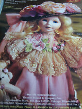 1999 Cecile et Christine Doll Ad Mundia Collection JULIE Advertisement ONLY