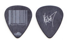 Slipknot Mick Thomson Signature Bar Code Black Guitar Pick - 2012 Tour #7