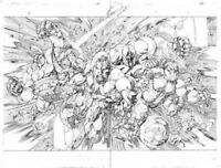 VALIANT Comic X-O MANOWAR #37 Pages 6&7 Diego Bernard Original Art Double Splash