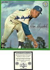 Don Drysdale autographed Sports Champions 33 1/3 RPM Record w/COA