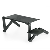 Adjustable Laptop Cooling Metal Stand Tray Holder Riser Desk Table for Bed Sofa